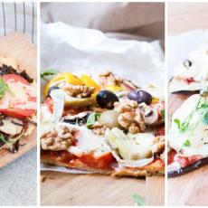 Tre olika sorters nyttiga pizzor