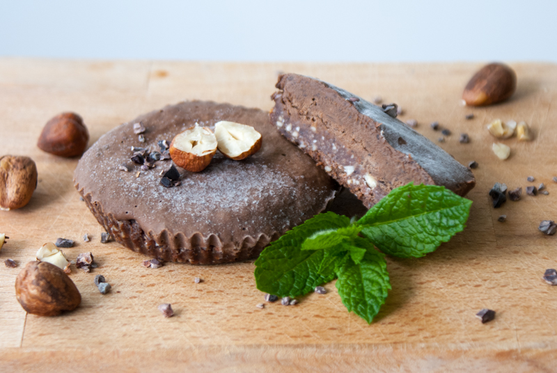 Muffins med chokladmousse