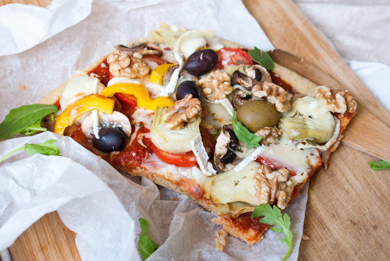 Vegetarisk, glutenfri pizza