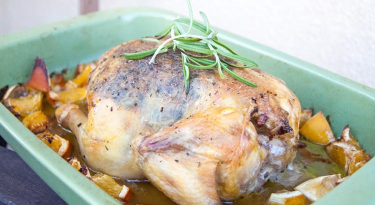 Helgrillad kyckling med rosmarin