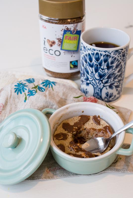 Mugcake med chokladbitar
