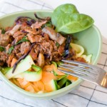 Köttfärssås med morots- och zucchinispaghetti