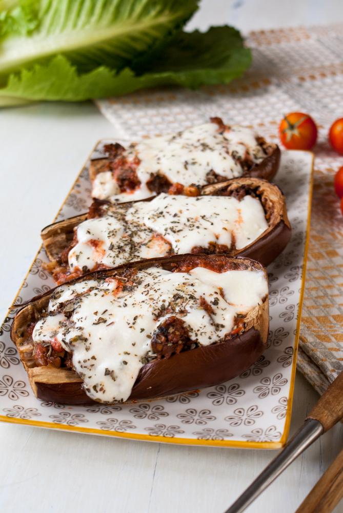 Fylld aubergine