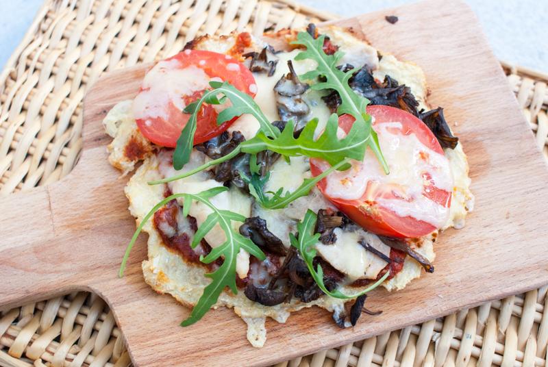 Pizza med trattkantareller