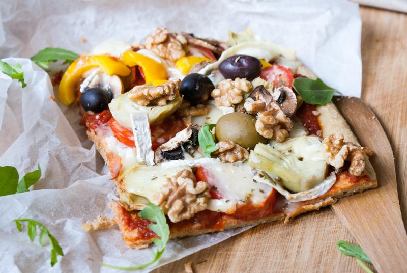 Vegetarisk, glutenfri pizza
